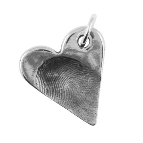 Heart Partial Fingerprint Charm