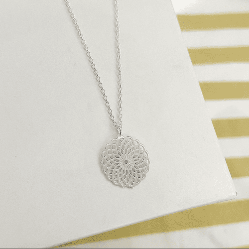 Patterned Circle Necklace