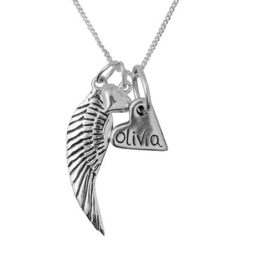 Personalised Angel Necklace