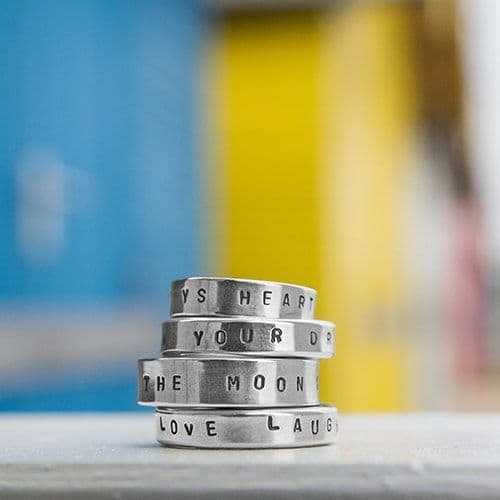 Personalised Silver Rings