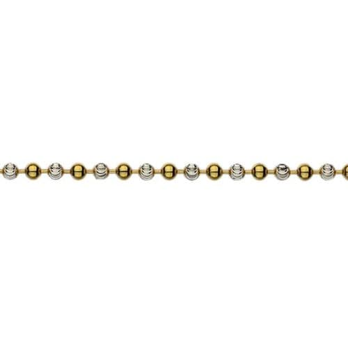 Silver And Gold Ball Chain