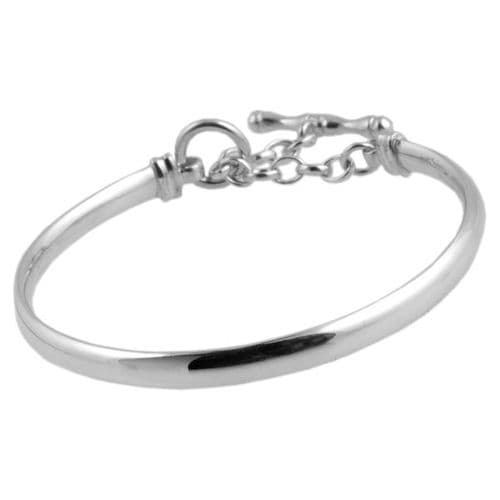 Silver Bangle With Toggle