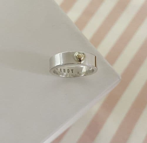 Silver & Gold Heart Ring