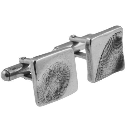 Square Partial Fingerprint Cufflinks