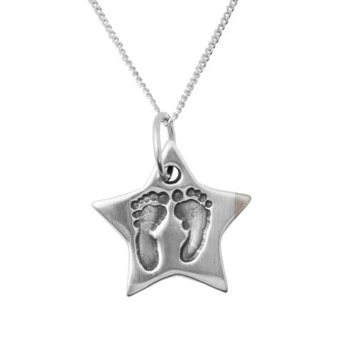 Star Foot Print Necklace
