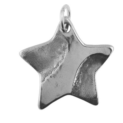 Star Partial Fingerprint Pendant