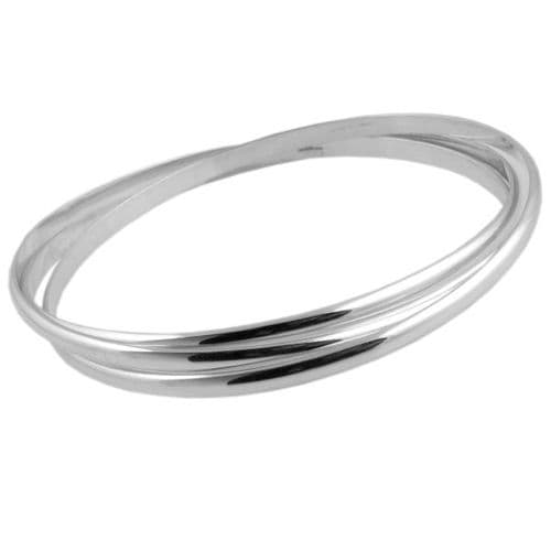 Triple Smooth Finish Bangles