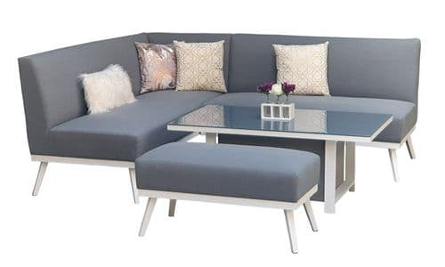 KIMMIE Fabric Sofa Dining with Gas Lift Table