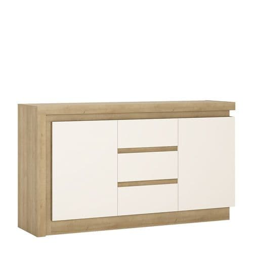 2 door 3 drawer sideboard (including LED lighting)