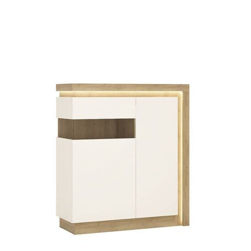 2 door designer cabinet (LH) (including LED lighting)
