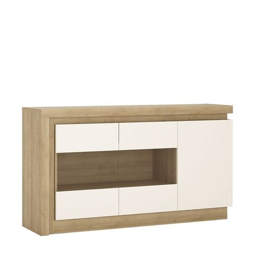 3 door glazed sideboard (including LED lighting)
