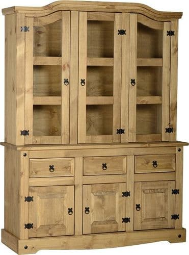 4'6 Buffet Hutch Pine