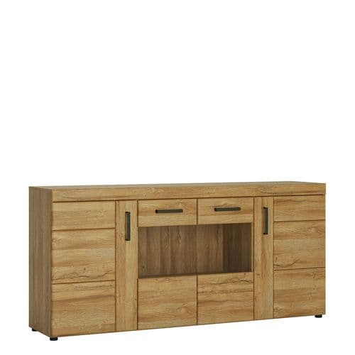 4 door wide glazed sideboard
