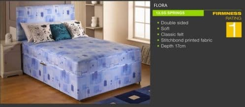 Flora Divan Bed and Mattress