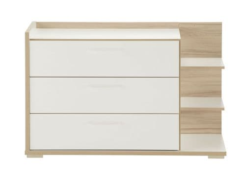 Arcane White and Cedar Effect 3 Drawer Chest