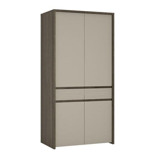 Aspen 2 Door Tall cupboard/Wardrobe (Inc LED lighting) in Riviera Oak