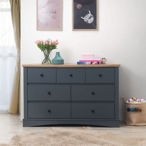 Carden Grey 7 Drawer Chest
