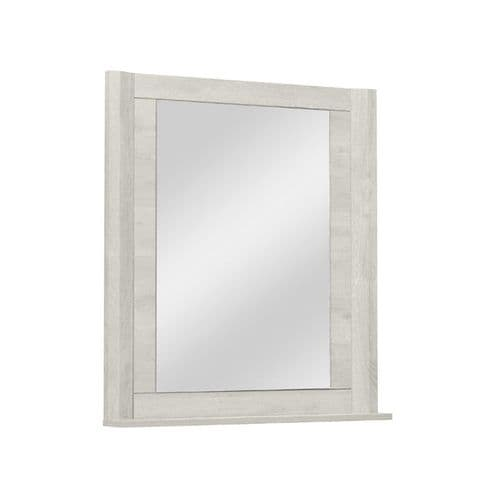 Eden Wall mounted Mirror Bleached Oak