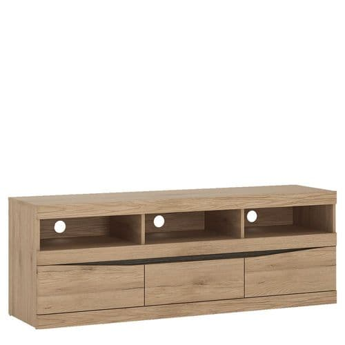 Kensington Wide 3 drawer TV unit in Oak