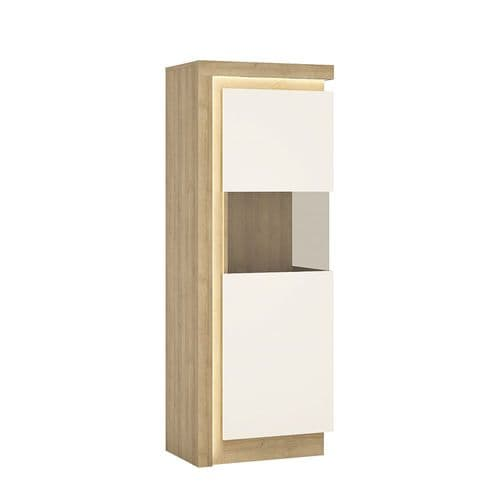 Narrow display cabinet (RHD) 164.1cm high (including LED lighting)