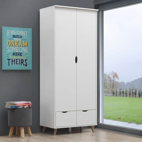Pulford 2 Door Wardrobe with 2 Drawers