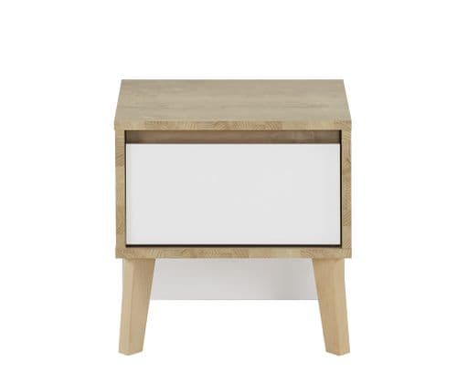 San Francisco Bedside Unit With White Drawer