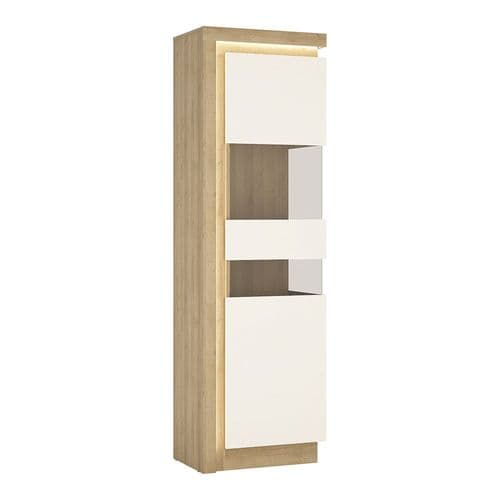 Tall narrow display cabinet (RHD) (including LED lighting)