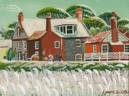 Cley Art Prints by Brian Lewis, Early Snow, Zetland House