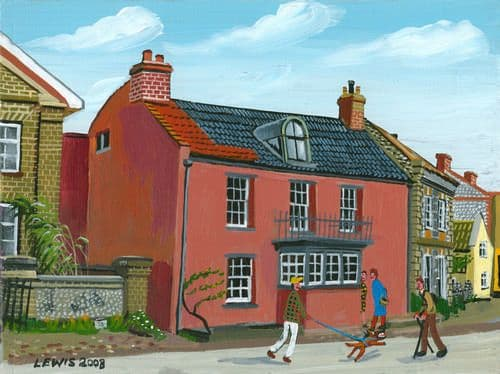 Cley Art Prints by Brian Lewis, Rocket House, Cley