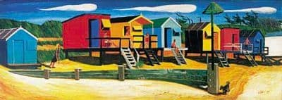 Coastal and Seaside Art Prints by Brian Lewis,Beach Huts IV