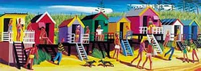 Coastal and Seaside Prints by Brian Lewis,Beach Huts VII
