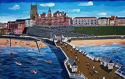 Cromer Art Prints by Brian Lewis,Hotel de Paris