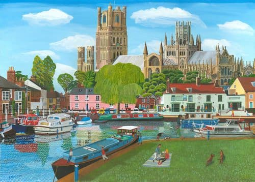 Ely Cathedral Art Print by Brian Lewis, Ely Cathedral