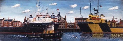 Great Yarmouth Art Prints by Brian Lewis, Two Ships, Great Yarmouth