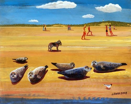 Seal Art Prints by Brian Lewis, I Wonder If They Move