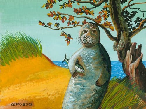 Seal Art Prints by Brian Lewis, John Mollusc