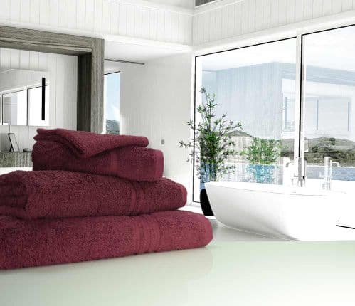 Great Quality Blue Label, 500gsm Bath Sheet in Plum