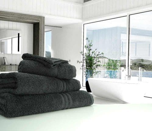 Great Quality Blue Label, 500gsm Bath Towel in Charcoal Grey