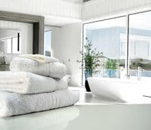 Great Quality Blue Label, 500gsm Bath Towel in White