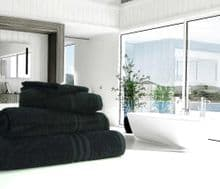 Great Quality Blue Label, 500gsm Hand Towel in Black