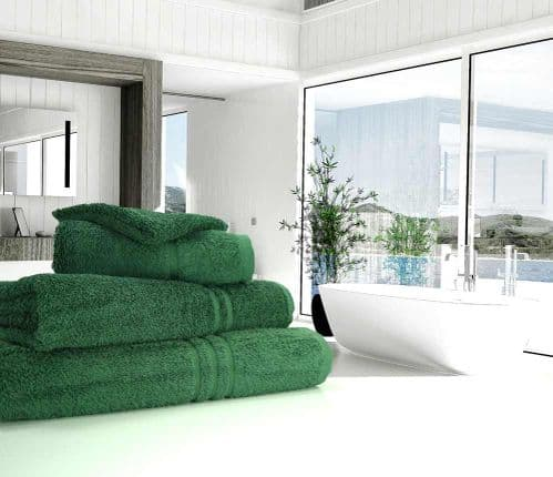 Great Quality Blue Label, 500gsm Hand Towel in Bottle Green
