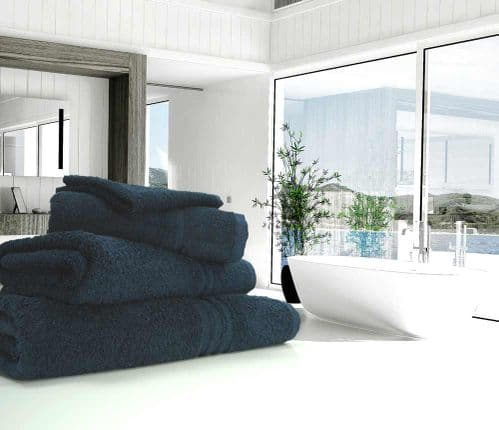 Great Quality Blue Label, 500gsm Hand Towel in Navy