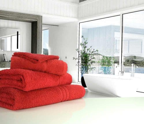 Great Quality Blue Label, 500gsm Hand Towel in Red