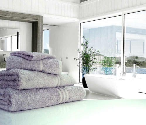 Great Quality Blue Label, 500gsm Hand Towel in Silver Grey