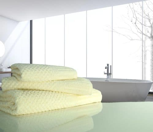 linenHall Spa, Quick Dry 450gsm Waffle Spa Bath Towel In Cream