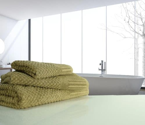 linenHall Spa, Quick Dry 450gsm Waffle Spa Hand Towel In Mocha