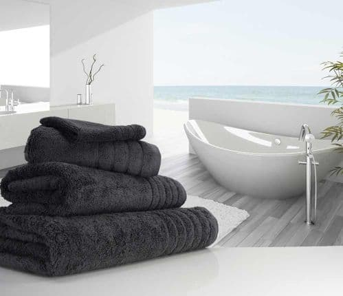Luxurious linenHall, 650gsm Bath Towel in Charcoal