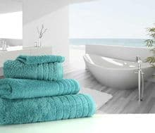 Luxurious linenHall, 650gsm Bath Towel in Teal