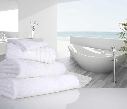 Luxurious linenHall, 650gsm Bath Towel in White