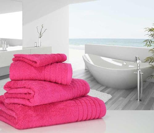 Luxurious linenHall, 650gsm Face Cloth in Hot Pink